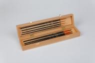 Набор кистей Roubloff №12 колонок круглые+плоская 8 штук в деревянной шкатулке