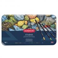 Набор цветных карандашей Derwent Studio 36 цветов, металлический пенал