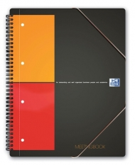 Бизнес-тетрадь Oxford International MeetingBook A4+ 80л клетка папка с 3 клапанами спираль пластиковая обложка