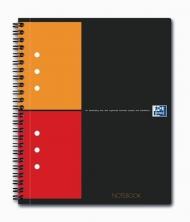 Бизнес-тетрадь Oxford International NoteBook A5+ клетка 80л двойная спираль твердая обложка