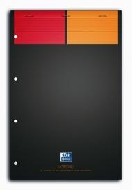 Бизнес-тетрадь Oxford International NotePad A4+ клетка 80л скрепка твердая обложка