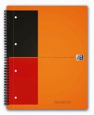 Бизнес-тетрадь Oxford International FilingBook A4+ линейка 100л двойная спираль 3 разделителя тверда
