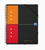 Бизнес-тетрадь Oxford International MeetingBook A5+ 80л клетка папка с 3 клапанами спираль пластиковая обложка