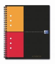 Бизнес-тетрадь Oxford International ActiveBook A5+ 80л клетка двойная спираль пластиковая обложка