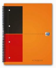 Бизнес-тетрадь Oxford International ActiveBook A4+ линейка 80л двойная спираль разделитель