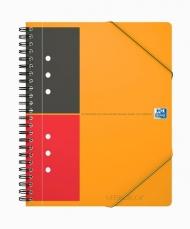 Бизнес-тетрадь Oxford International MeetingBook A5+ 80л линейка папка с 3 клапанами спираль пластиковая обложка