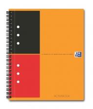 Бизнес-тетрадь Oxford International ActiveBook A5+ линейка 80л двойная спираль разделитель пластиков
