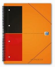 Бизнес-тетрадь Oxford International MeetingBook A4+ 80л линейка папка с 3 клапанами спираль пластиковая обложка