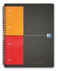 Бизнес-тетрадь Oxford International ActiveBook A4+ 80л клетка двойная спираль пластиковая обложка