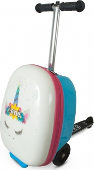 ZINC Самокат-чемодан Единорог