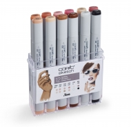Набор художественных маркеров COPIC Sketch Портрет, 12 цветов, телесные тона