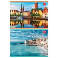 """Альбом для рисования Brauberg """"Города мира"""", А4, 32 листа, скоба, обложка картон,  200х283 мм"""