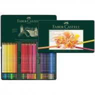 """Карандаши цветные художественные Faber-Castell """"Polychromos"""" 60 цветов, металлическая коробка"""