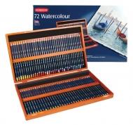 Подарочный набор акварельных карандашей WaterColour DERWENT в деревянной шкатулке, 72 цвета