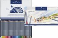 Акварельные карандаши Faber-Castell Goldfaber Aqua, 36 цветов, металлический пенал