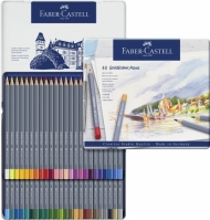 Акварельные карандаши Faber-Castell Goldfaber Aqua, 48 цветов, металлическая коробка