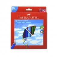 Набор цветных карандашей Еco Faber-Сastell, 48 цветов, с точилкой