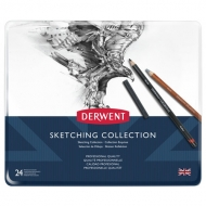 Набор карандашей Derwent Sketching Collection 24 цвета, металлический пенал