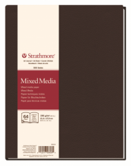 Блокнот для зарисовок Strathmore 500 Series Mixed Media 190г/кв.м, 21,6х28см 32л
