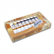 Масляные краски «Ладога» НЕВСКАЯ ПАЛИТРА, набор 8 базовых цветов по 18 мл