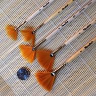 Кисти веерные синтетика ROUBLOFF, длинная ручка