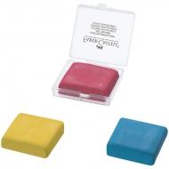 Ластик-клячка Faber-Castell, формопласт, 40*35*10 мм, ассорти, пластик. контейнер