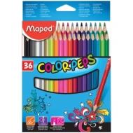 """Карандаши Maped """"Color Peps"""", 36цв., трехгран., заточен., картон, европодвес"""
