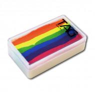 Профессиональный гипоаллергенный аквагрим Сплит-кейк TAG «Неоновая радуга», 30г