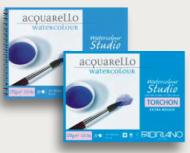 Альбом для акварели Fabriano Watercolour Studio 270г/кв.м (25%хлопок) 24x32см Торшон 12л спираль по короткой стороне