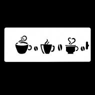 Гибкий трафарет-бордюр Сонет НЕВСКАЯ ПАЛИТРА, Кофе, 10х25 см