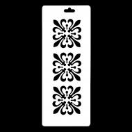 Гибкий трафарет-бордюр Сонет НЕВСКАЯ ПАЛИТРА, Орнамент цветы, 10х25 см