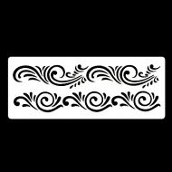 Гибкий трафарет-бордюр Сонет НЕВСКАЯ ПАЛИТРА, Орнамент, 10х25 см