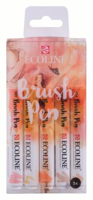 Набор акварельных маркеров Royal Talens Ecoline Brush Pen Бежевые-Розовые 5 штук в пластиковой упаковке