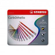 Цветная пастель CarbOthello STABILO для рисования, в карандашах, 24 цвета в наборе
