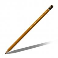 Карандаш ТВЕРДЫЙ чёрнографитный KOH-I-NOOR для черчения, графики, художественного творчества, твердость от 4H до 10H