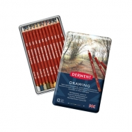 Набор цветных карандашей Derwent Drawing 12 цветов, металлический пенал