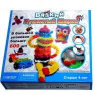 Конструктор-липучка Вязкий Пушистый шарик (Bunchems) 600 деталей