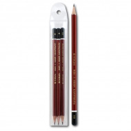 Набор чернографитных карандашей Koh-I-Noor KIN «Forum», 3 шт, твердость HB, H, B