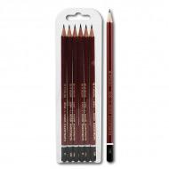 Набор чернографитных карандашей Koh-I-Noor KIN «Forum», 6 шт, твердость НВ-2шт, B, H, 2H, 2B