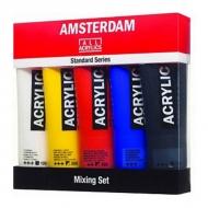 Набор акриловых красок Royal Talens Amsterdam Mixing Стандарт, 5 цветов по 120 мл