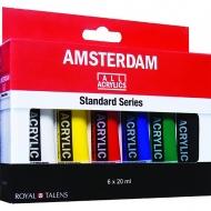 Набор акриловых красок Amsterdam Standard Royal Talens, 6 цветов по 20мл