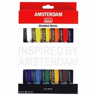 Набор акриловых красок Royal Talens Amsterdam Standard, 12 цветов по 20 мл