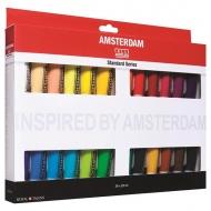 Набор акриловых красок Royal Talens Amsterdam Стандарт, 24 цвета по 20 мл