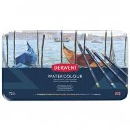 Набор акварельных карандашей Derwent Watercolour 72 цвета, металлический пенал