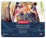 Набор акварельных и чернильных карандашей Derwent Watercolour Collection 24 предм. в метал. пенале