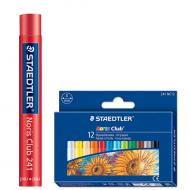 Художественная масляная пастель Staedtler Noris Club 12 цветов, диаметр 8 мм, картонная упаковка