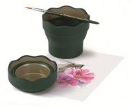 Складной стакан для воды Faber-Castell Clic&Go, зеленый
