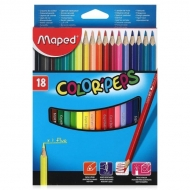Карандаши цветные детские Color Peps Maped, 18 цветов, трехгранный корпус