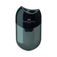 Двойная точилка Faber-Castell с контейнером, цвет черный