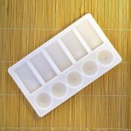 Палитра для смешивания красок Сонет НЕВСКАЯ ПАЛИТРА, 10 ячеек, пластик